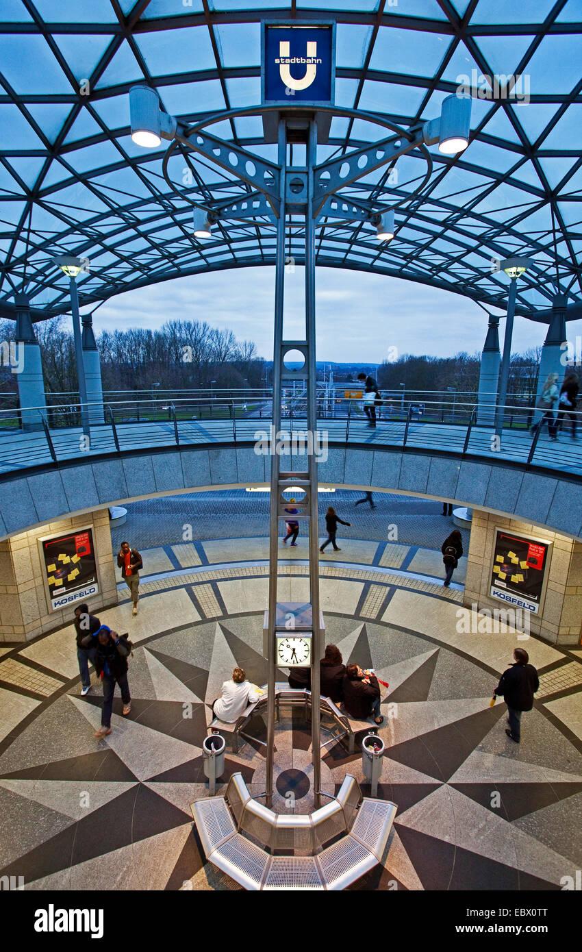 underground station of 'Westfalenhallen', Germany, North Rhine-Westphalia, Ruhr Area, Dortmund - Stock Image