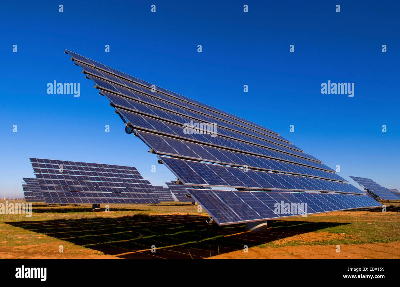solar panels to store electricity and power near Mananares, Spain