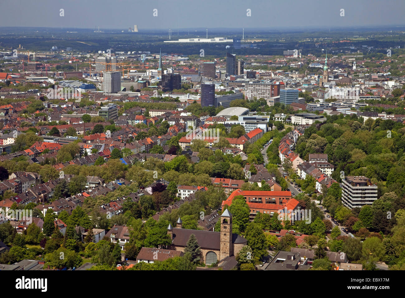 View Of Dortmund City View From Florian Tower Germany North Stock Photo Alamy