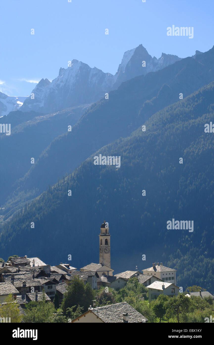 Soglio in Bergell, Switzerland - Stock Image