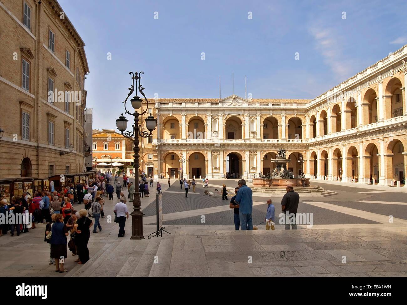 historic old towns and Piazza della Madonna , Italy, Marche, Loreto - Stock Image
