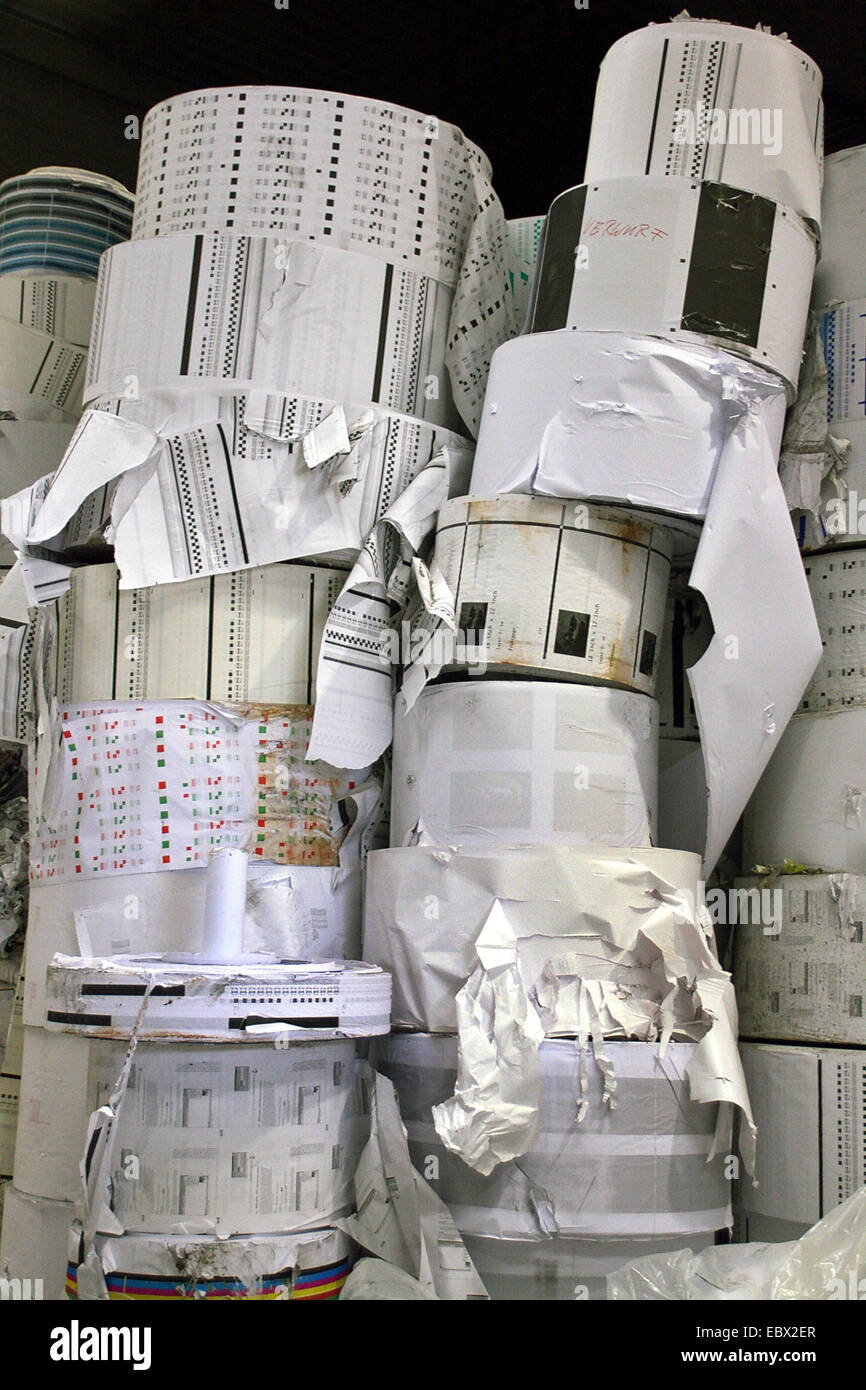 waste paper recycling Stock Photo