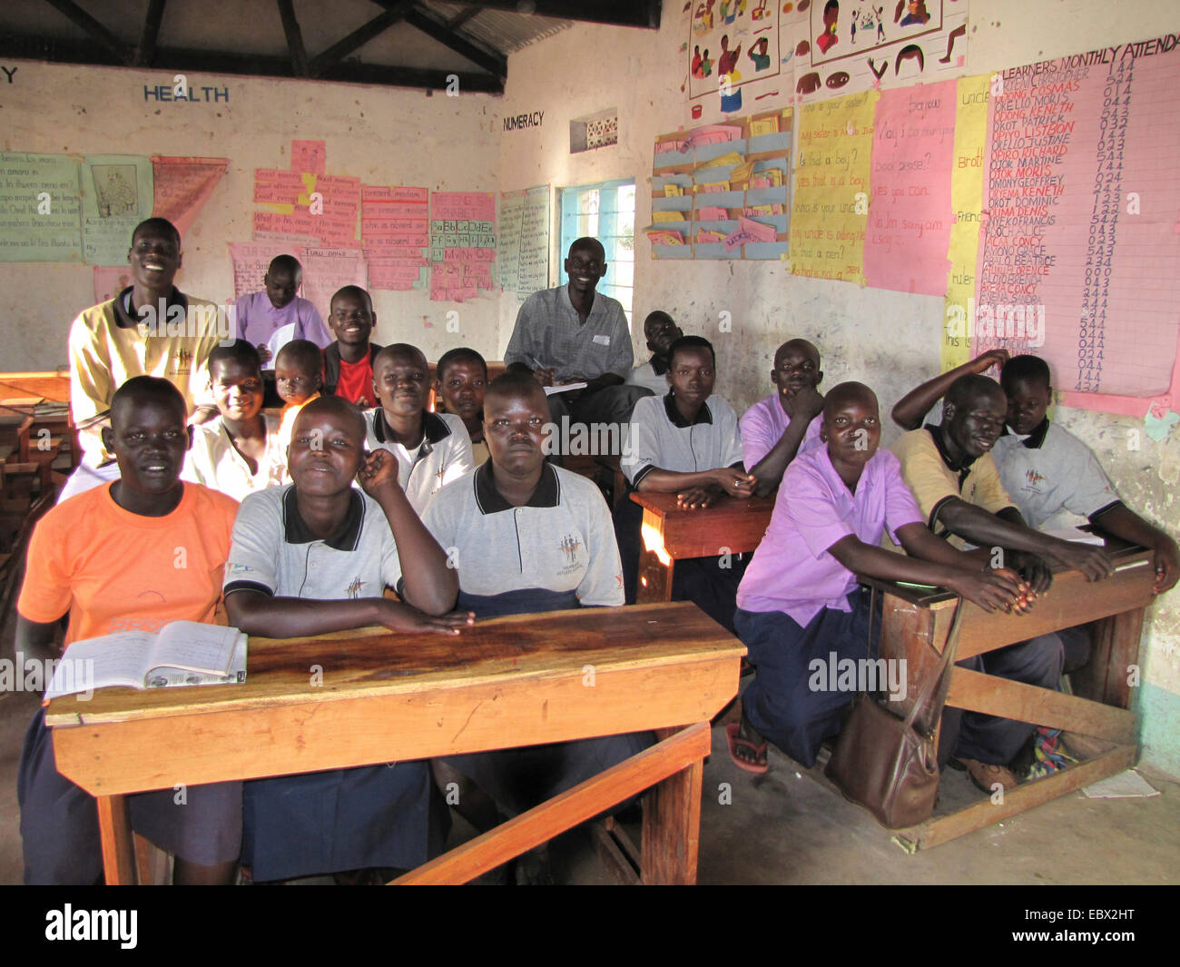 former child soldier in northern Uganda around Gulu are being rehabilitated in a psychological centre with a vocational - Stock Image