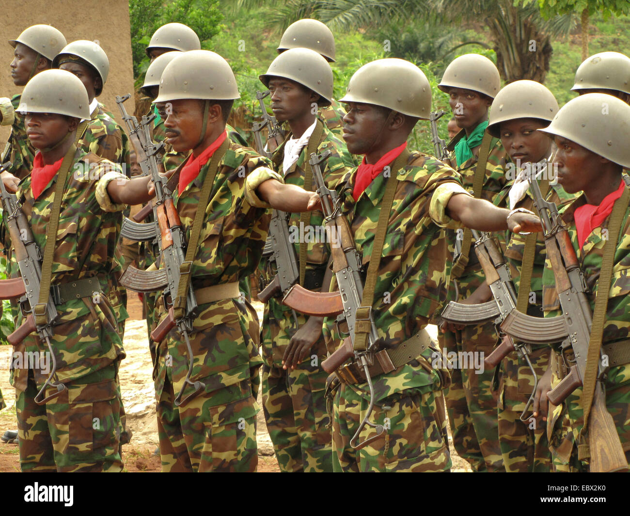 guard of honour of the burundian army at the festivities for the International Day of Human Rights (10 December - Stock Image