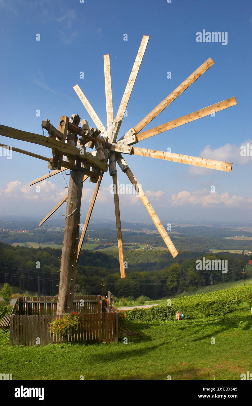 landmark of Styria; the Klapotetz at St. Andrae, Austria, Styria, Suedsteiermark - Stock Image