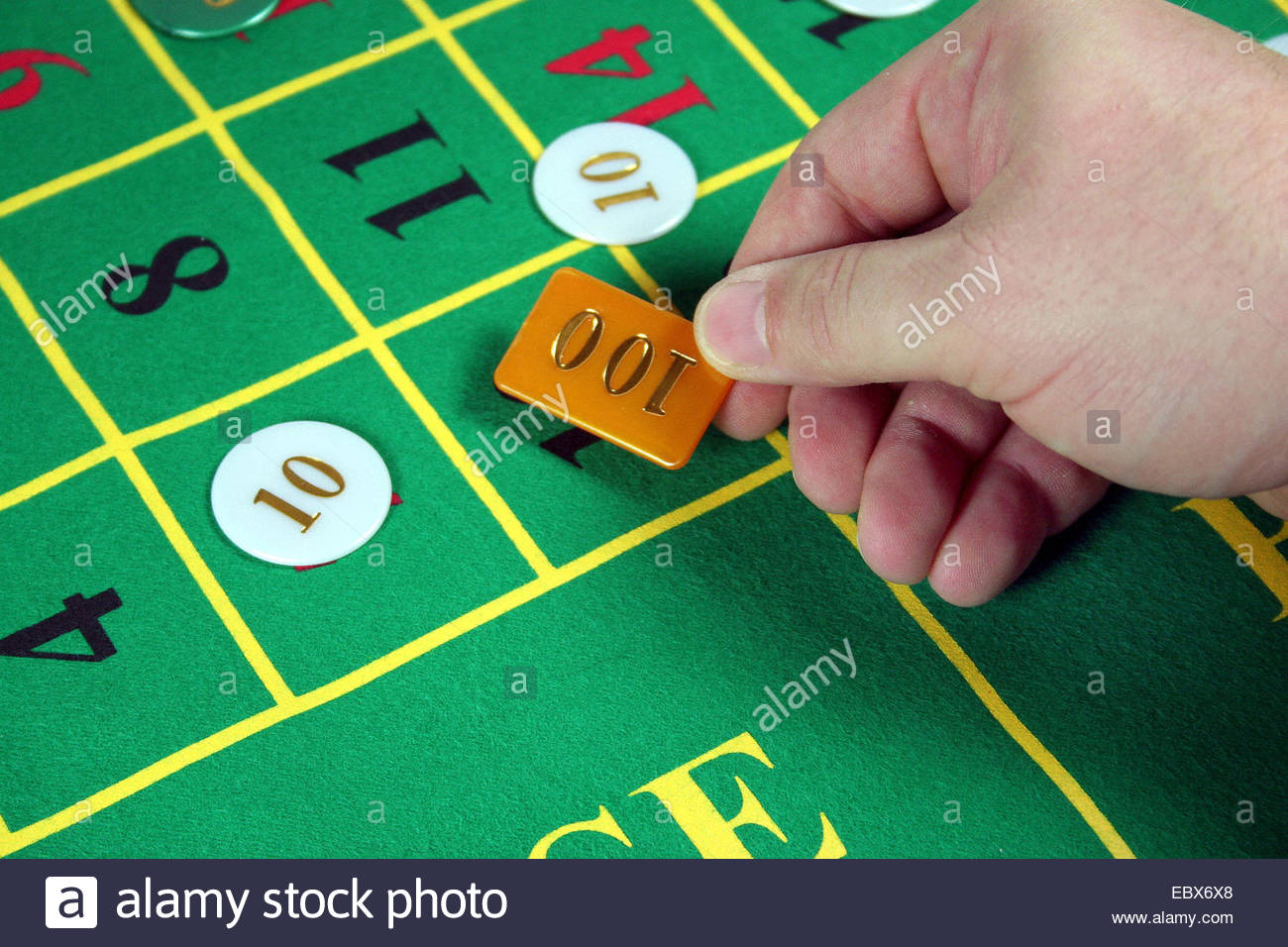 at the Roulette table - Stock Image