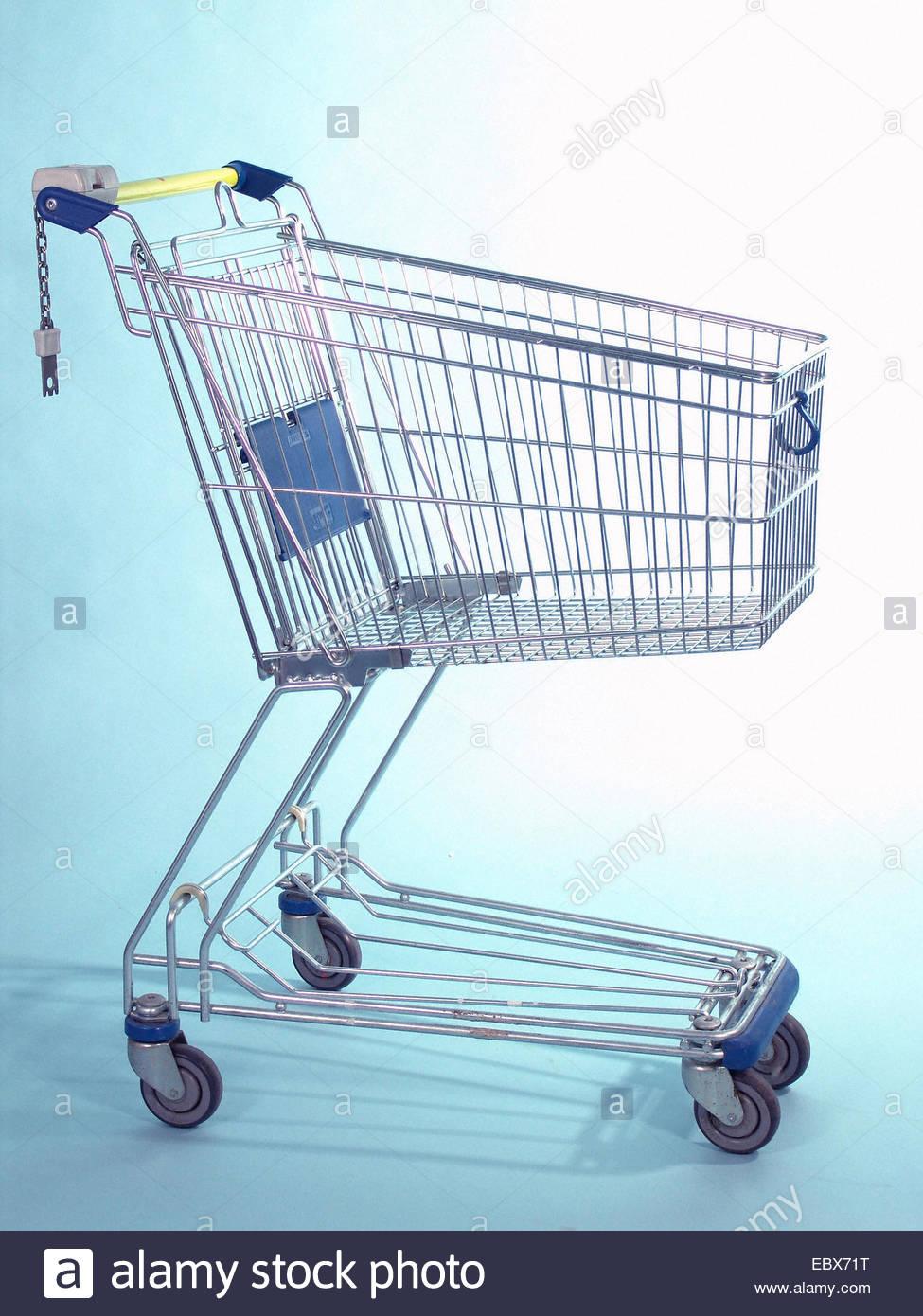 supermarket - trolley - Stock Image