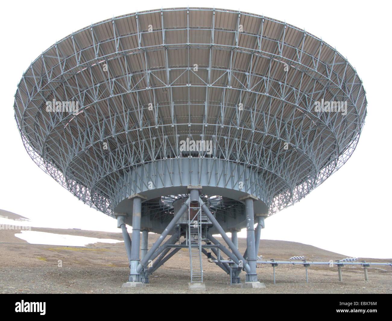 scientific radar system EISCAT, Norway, Svalbard, Longyearbyen - Stock Image
