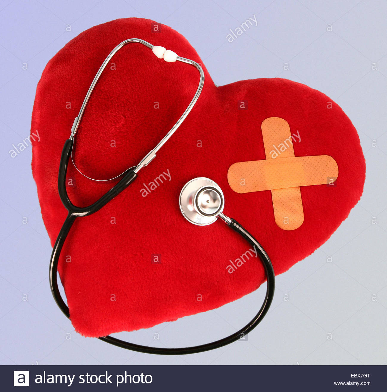 symbol picture, hurted heart - Stock Image