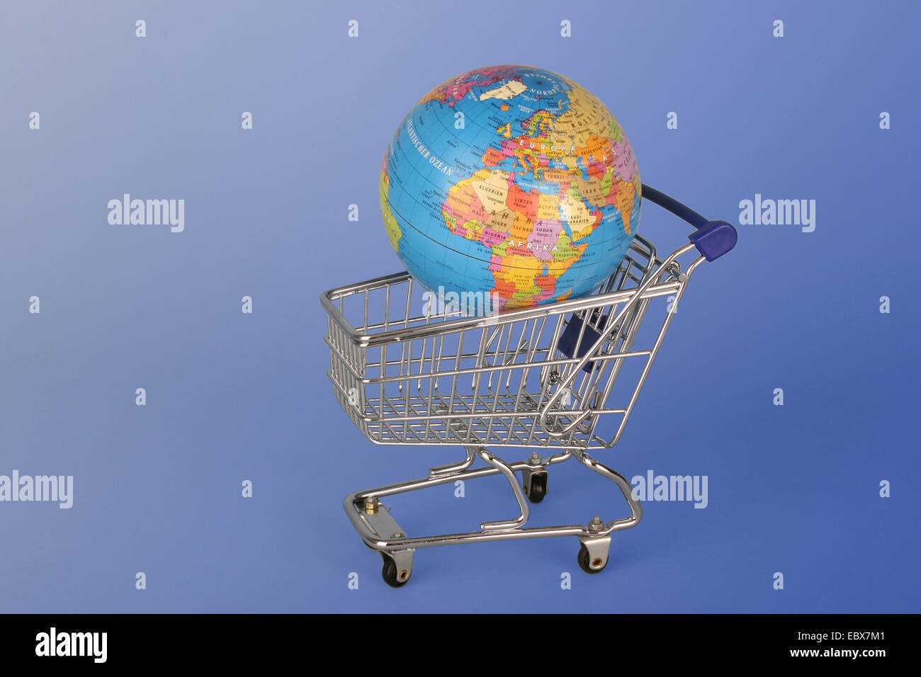 cart with a globe - Stock Image