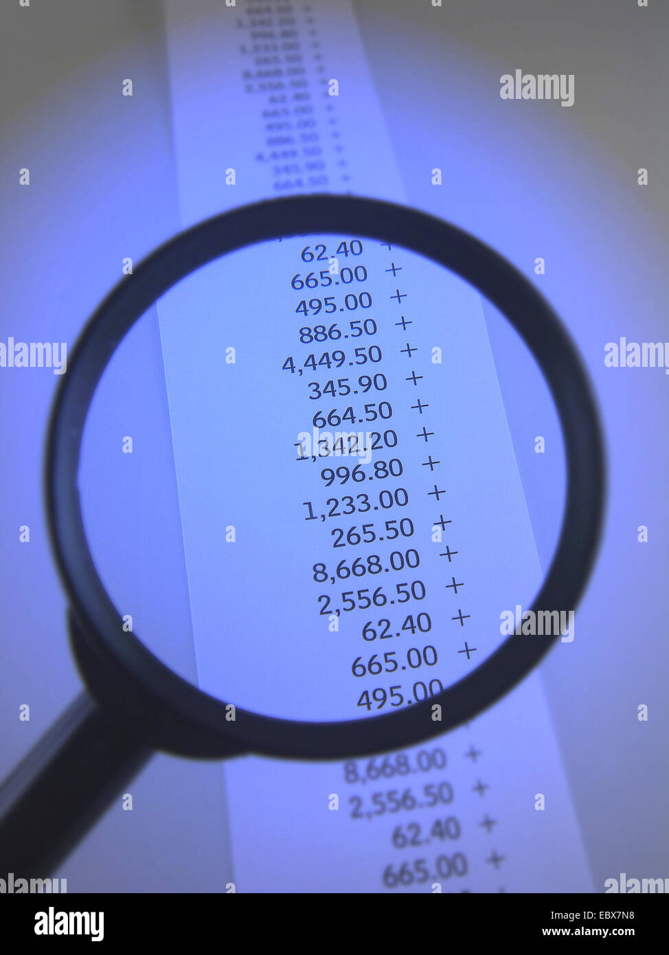 numerical sequence on a voucher - Stock Image