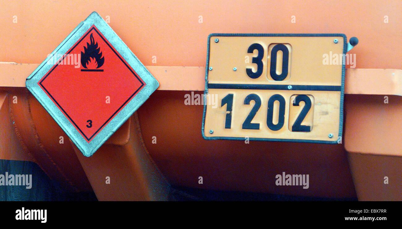 hazardous good marking - Stock Image