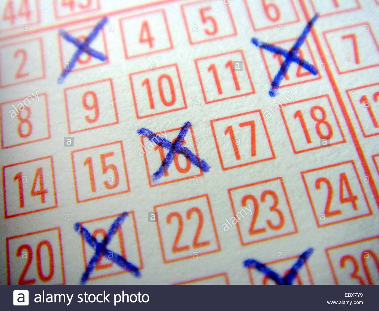 lottery bill - Stock Image