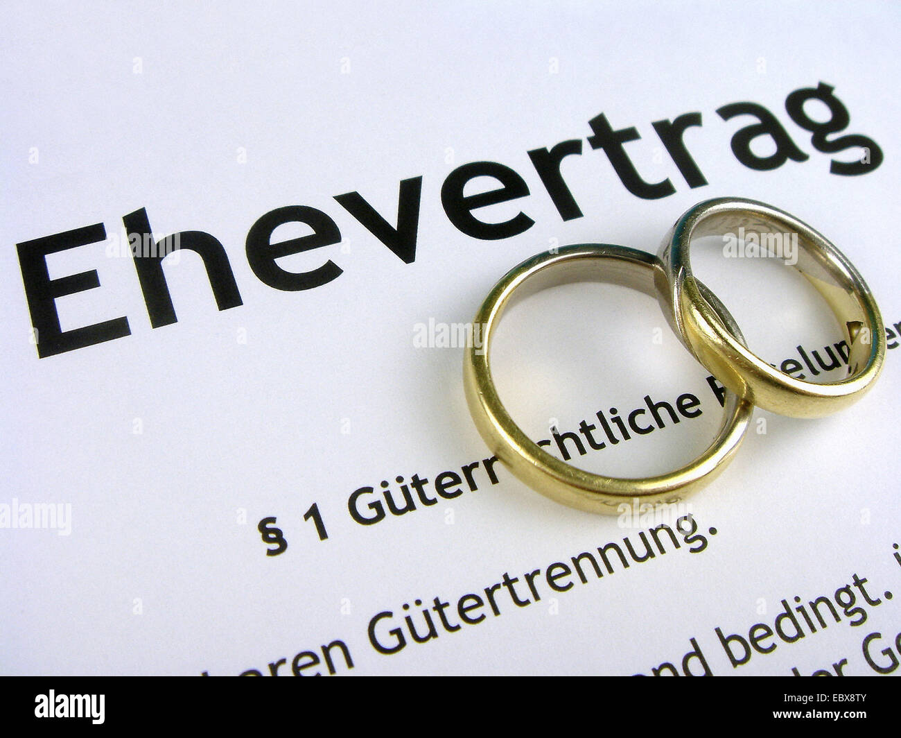 marriage contract Stock Photo