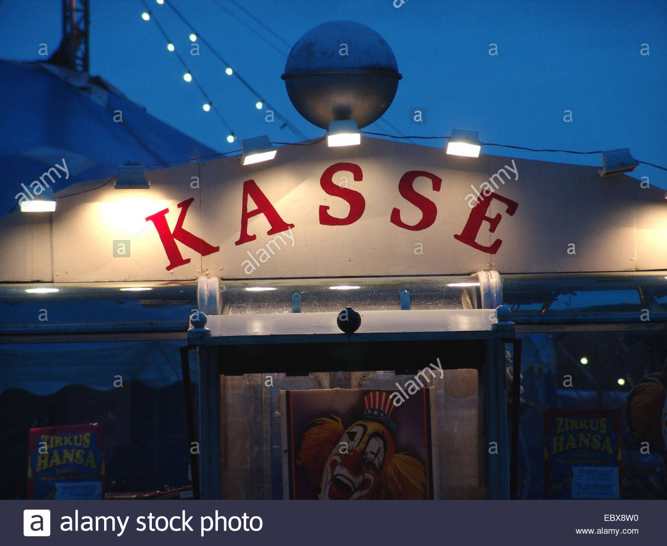 point of sale of a circus - Stock Image