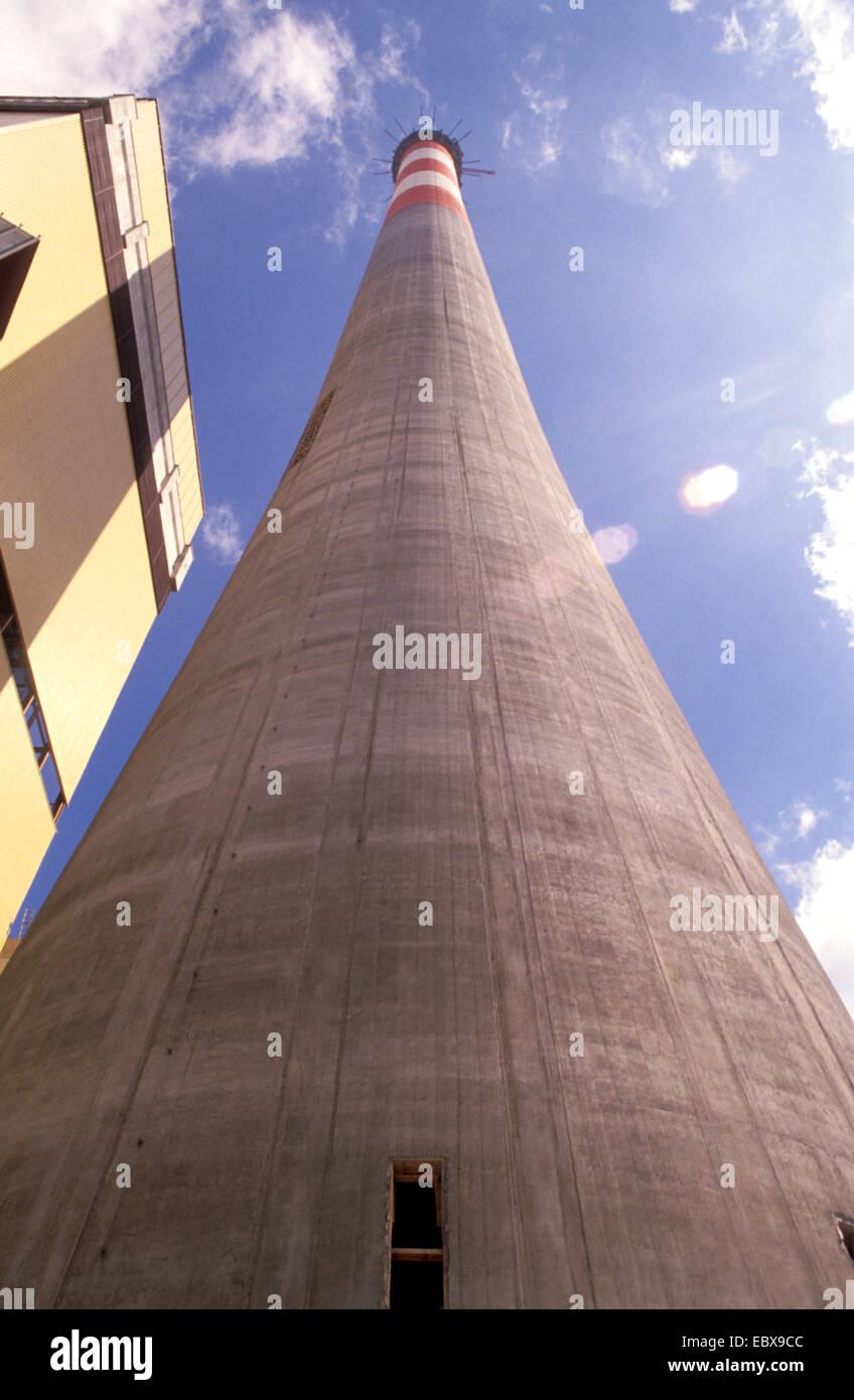 construction site power plant Simmering, Austria, Vienna - Stock Image