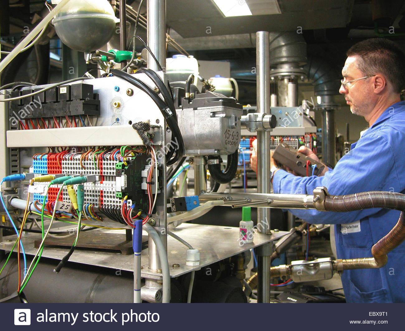worker in industry - Stock Image