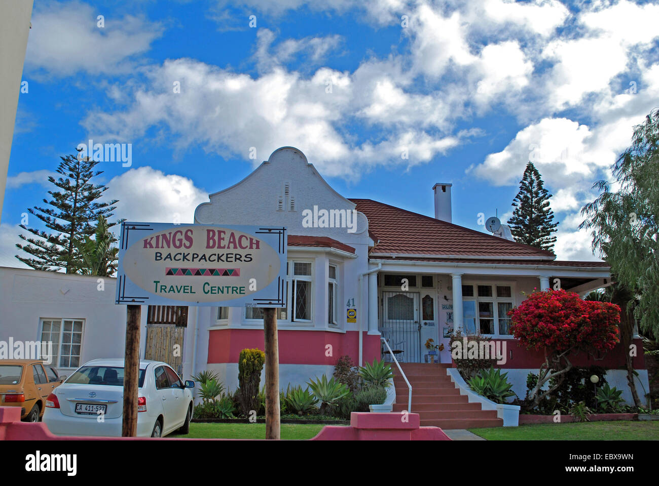 backpackers travel centre, South Africa, Port Elizabeth - Stock Image