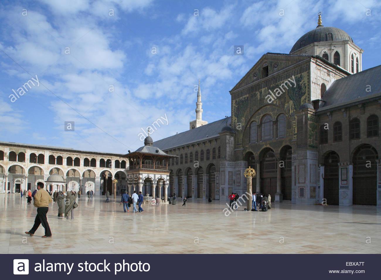 Umayyad mosque (708-715), Syria, Damaskus - Stock Image