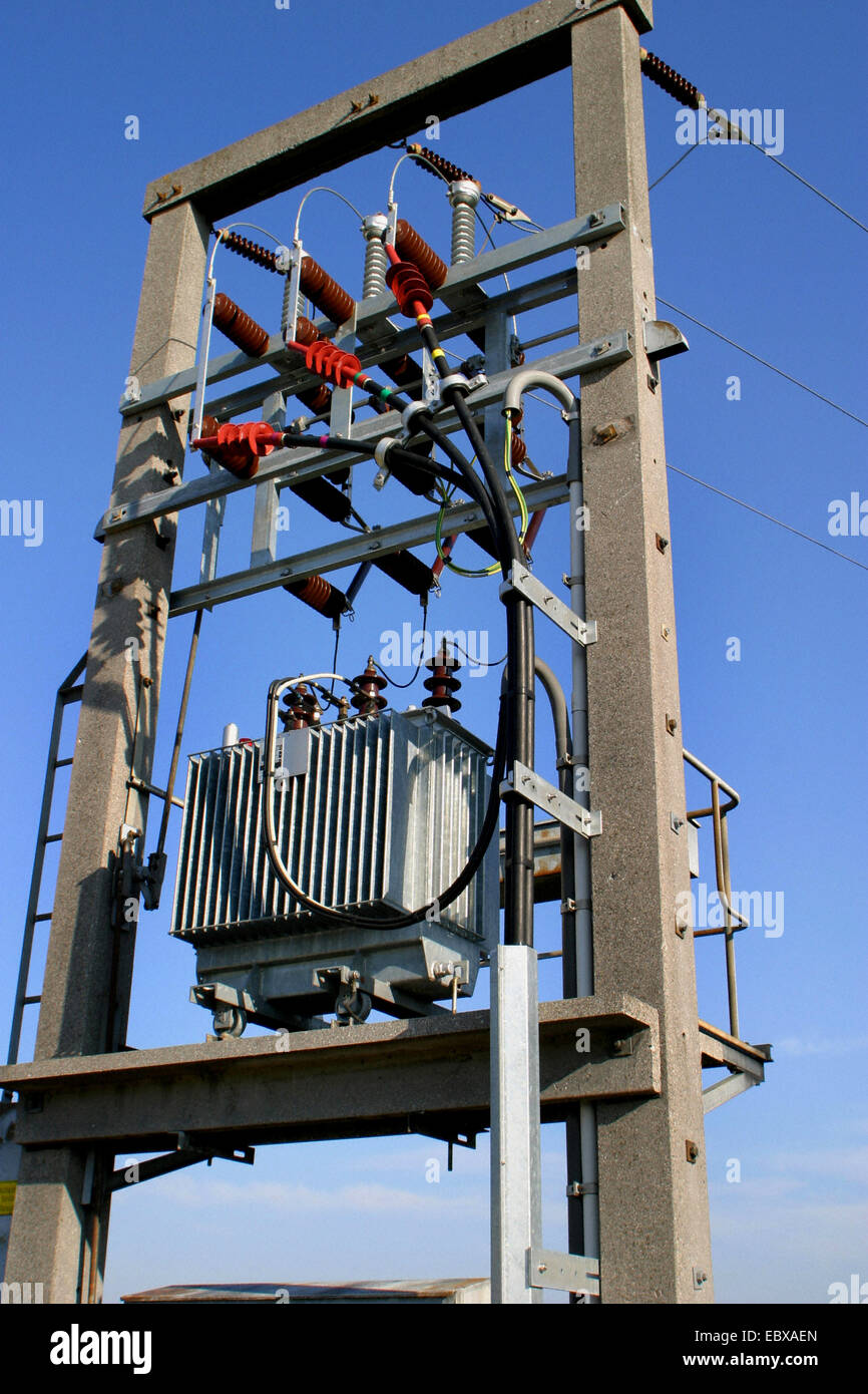 power transformation station - Stock Image