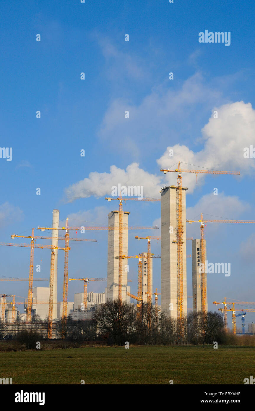 construction site powerplant Hamm, Germany, North Rhine-Westphalia, Ruhr Area, Hamm - Stock Image