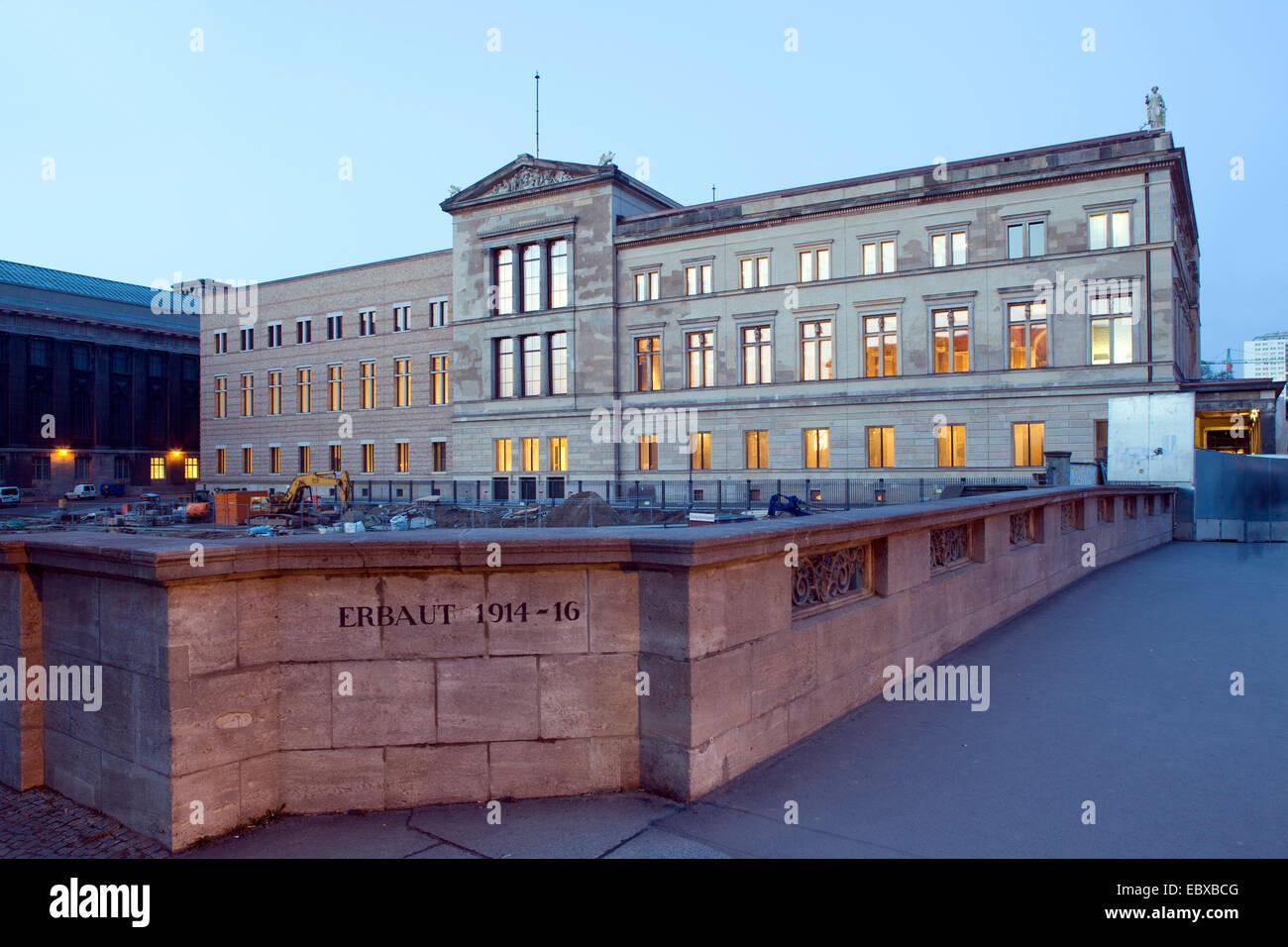 Neues Museum in Berlin, Germany, Berlin Stock Photo