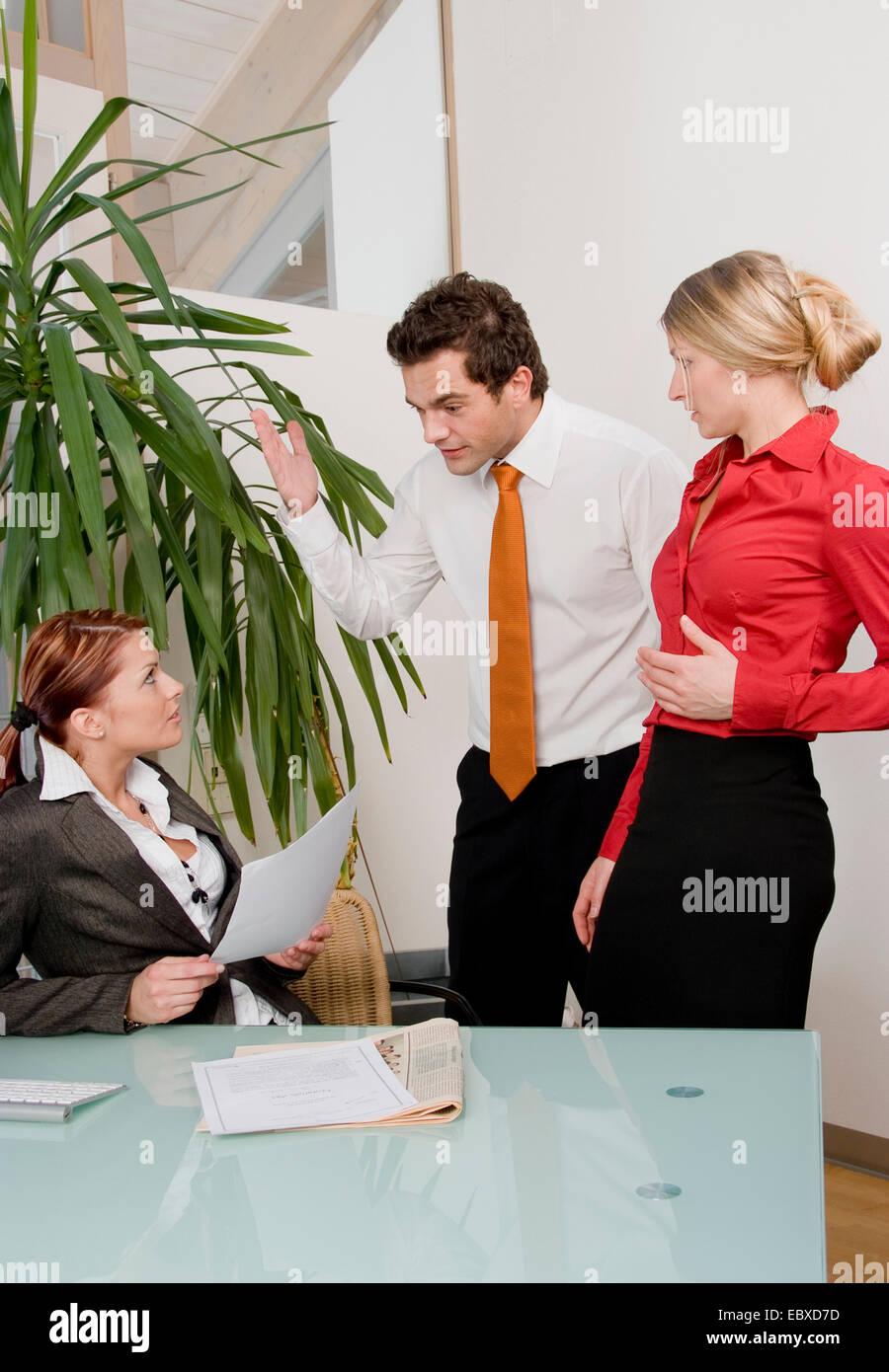 conflict in office - Stock Image