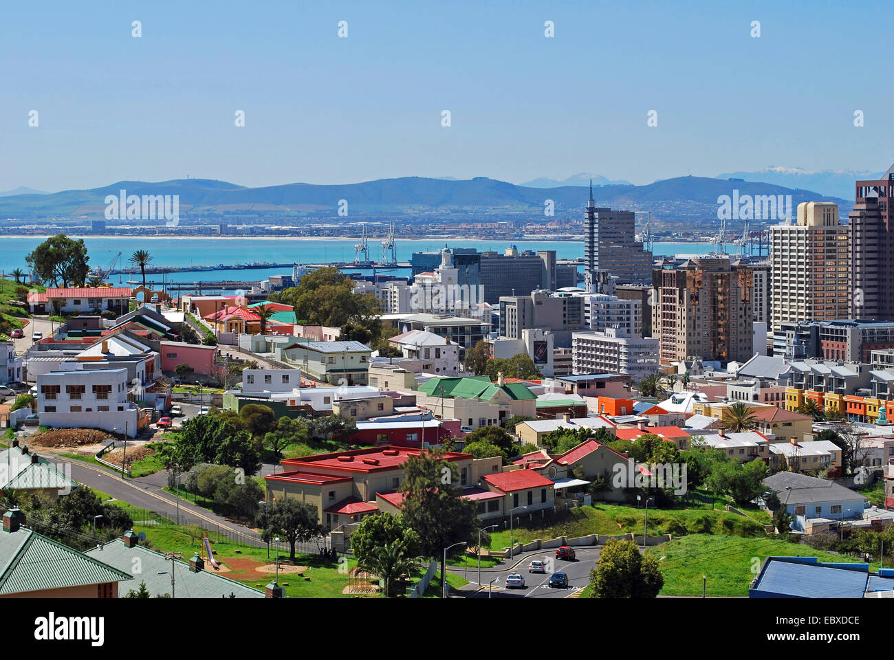 view onto Cape Town, South Africa, Capetown - Stock Image