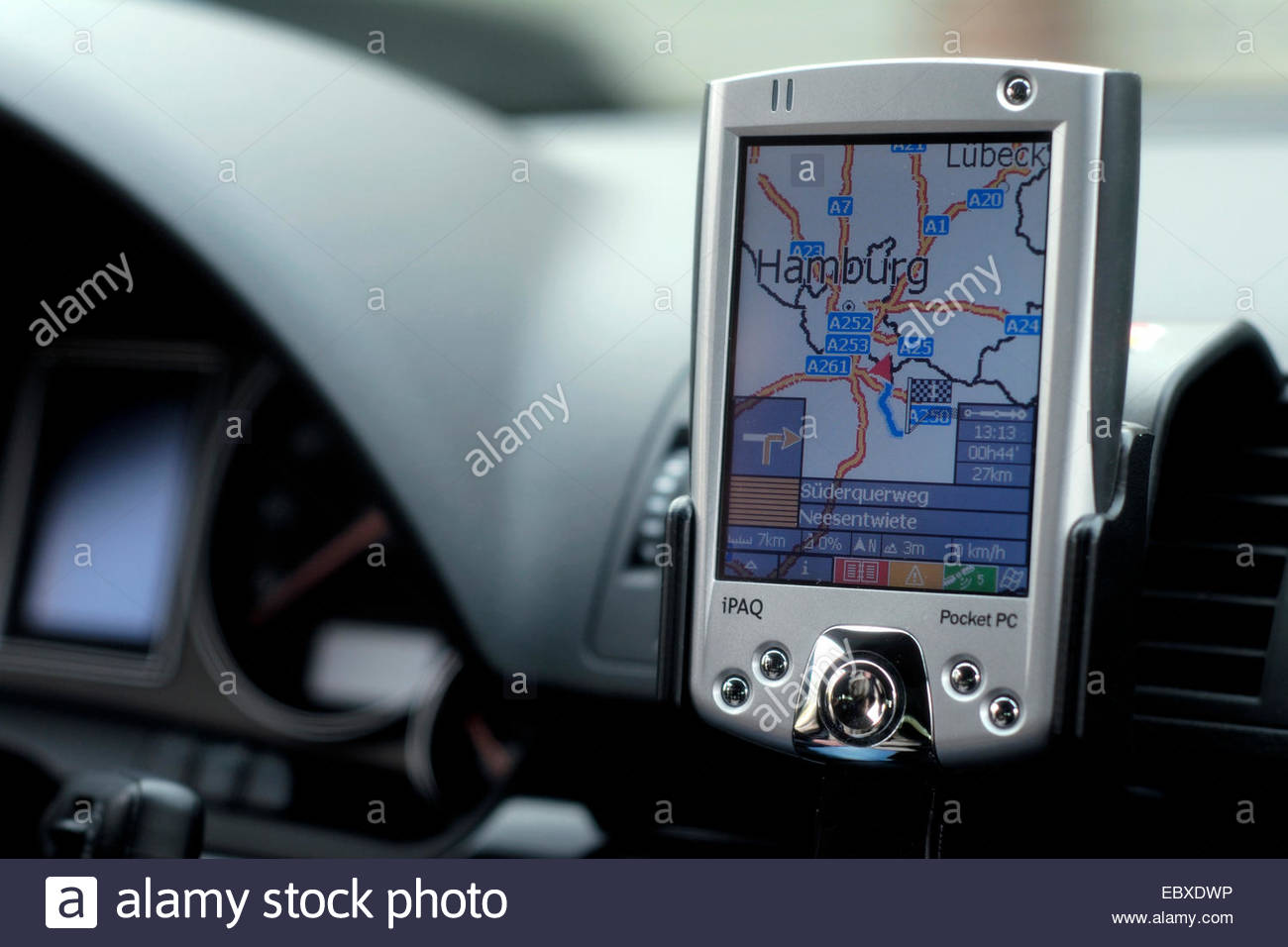 navigation system ina car - Stock Image
