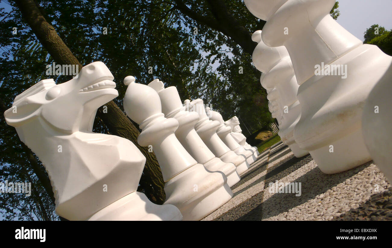open air chess, Germany - Stock Image