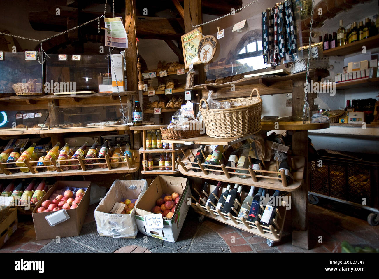 in Kriemhild-Muehle, Kriemhild mill, shop with organic products, Germany, North Rhine-Westphalia, Ruhr Area, Xanten - Stock Image