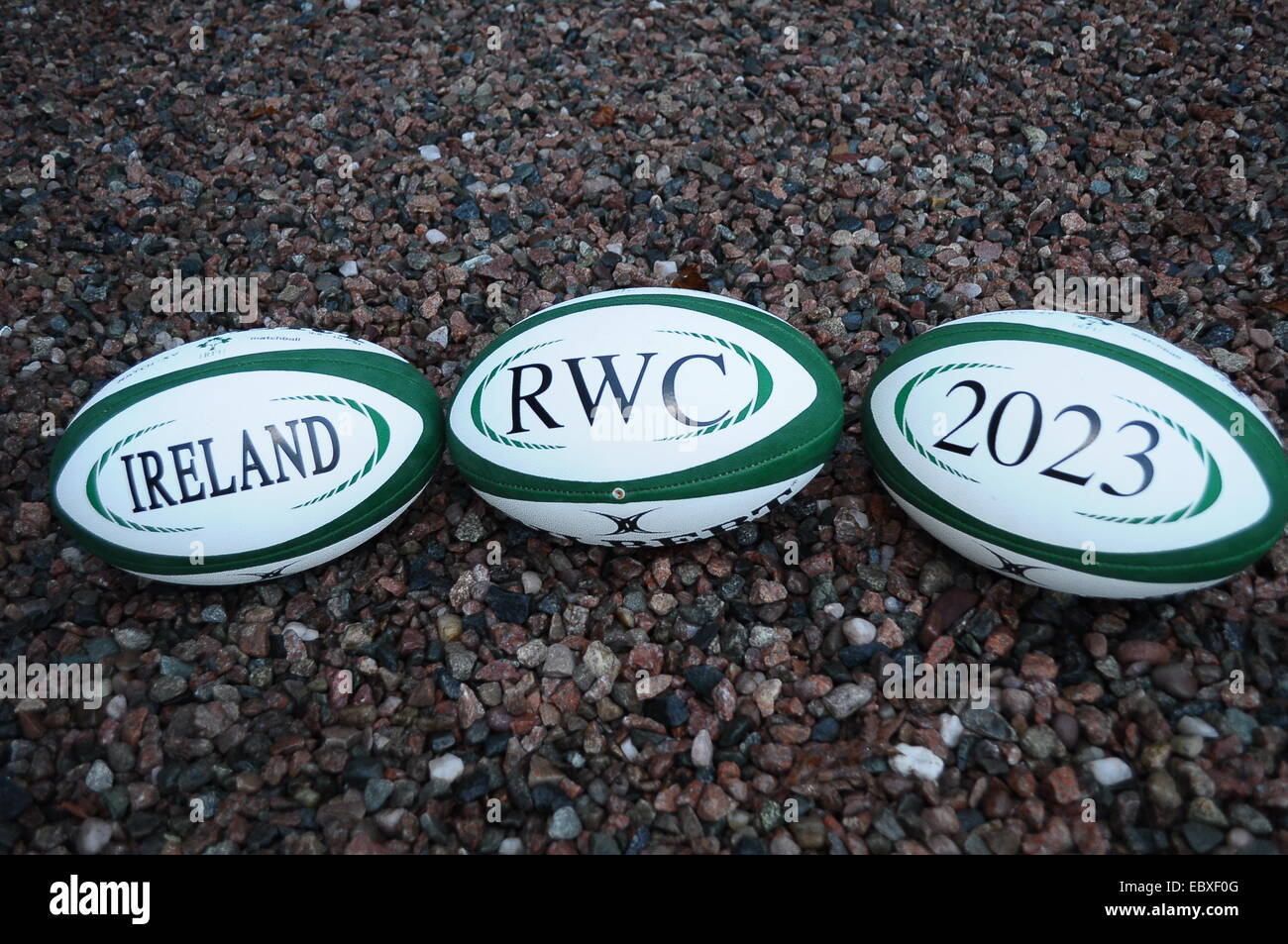 Irish Rugby Football Union (IRFU) launch bid to host Rugby World Cup 2023 in Ireland. Royal School Armagh  5 December - Stock Image
