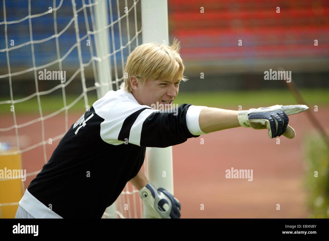 football player, goalkeeper - Stock Image
