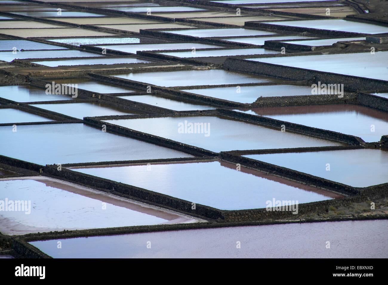 Salinas de Janubio, Lanzarote - Stock Image