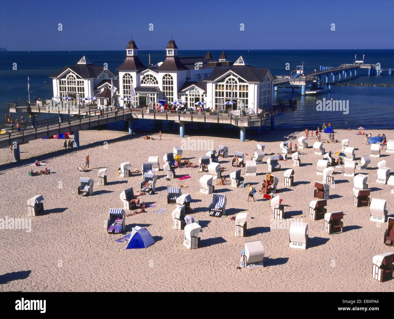 Germany, baltic sea bath in Sellin - Stock Image