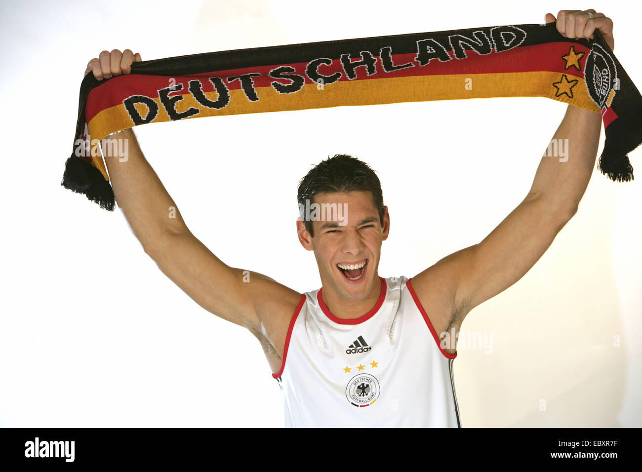 German football fan, halfportrait Stock Photo
