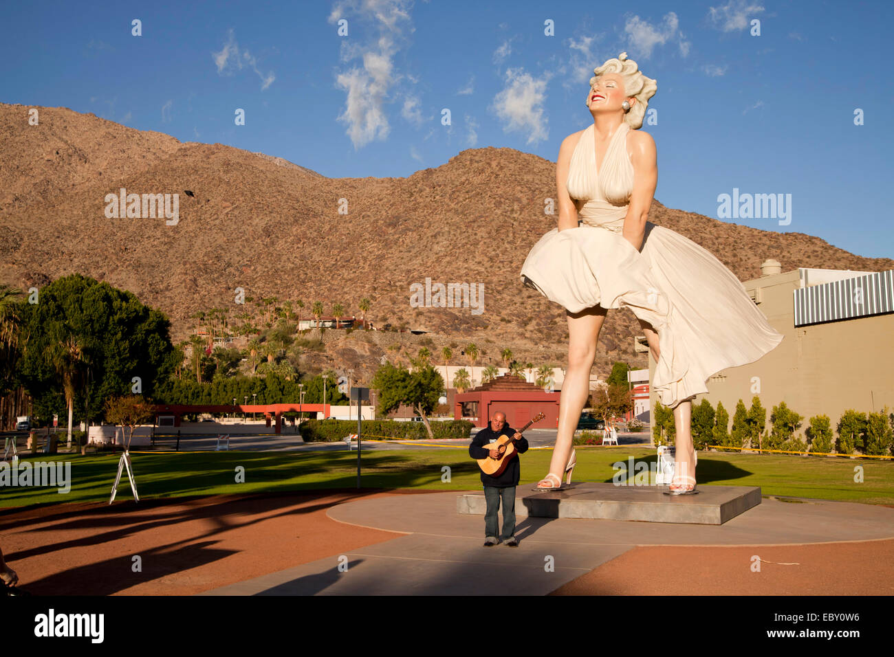 Nearly eight-metre tall Marilyn Monroe sculpture 'Forever Marilyn' by the American artist Seward Johnson, - Stock Image