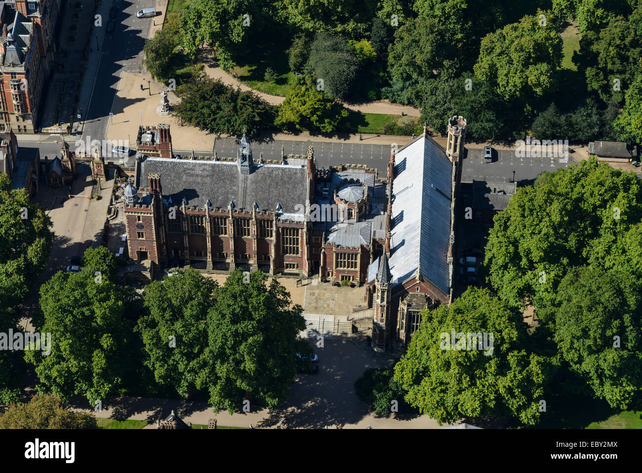 An aerial view of the Lincoln Inn buildings. One of the four Inns of Court for Barristers in London - Stock Image