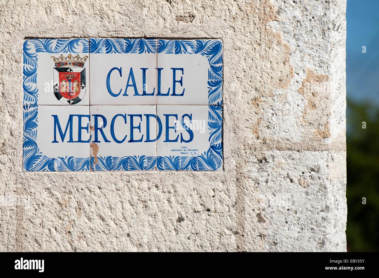 Dominikanische Republik, Santo Domingo, Zona Colonial, Calle Mercedes - Stock Image