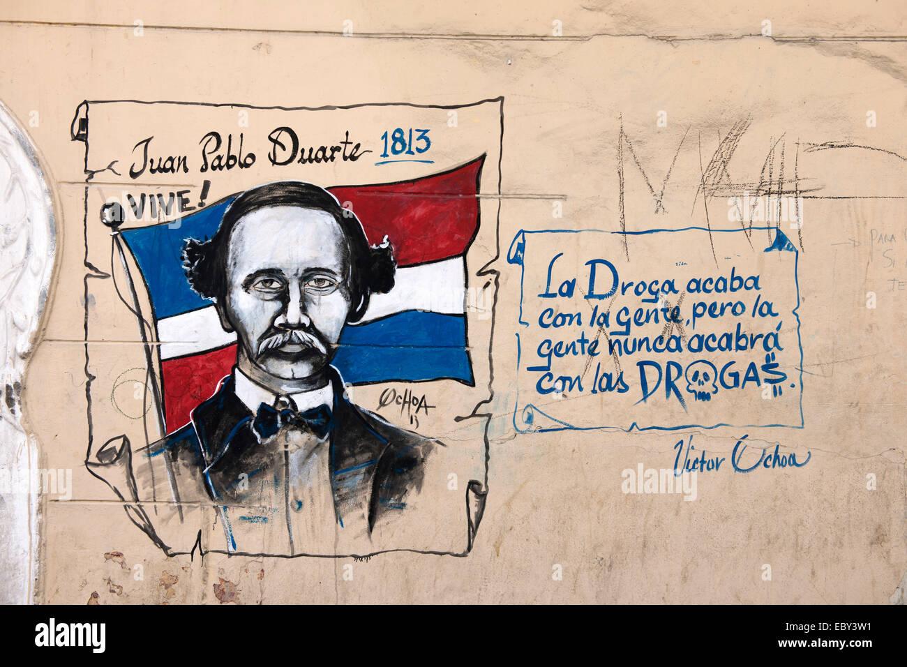 Dominikanische Republik, Santo Domingo, Zona Colonial, Graffiti, - Stock Image