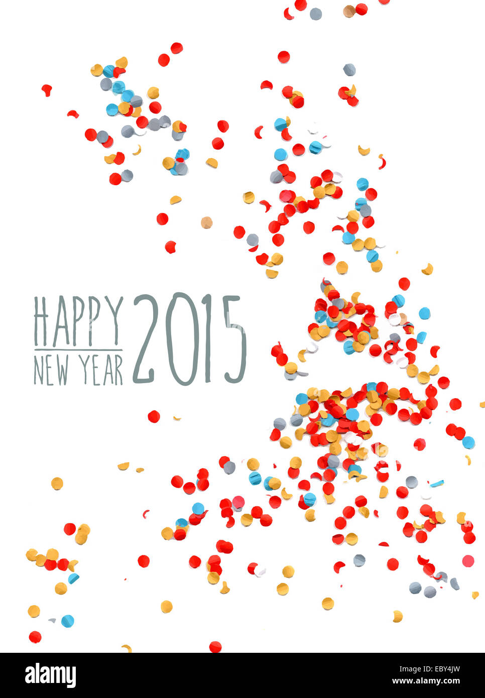 Happy new year 2015 celebration with colorful confetti paper stock happy new year 2015 celebration with colorful confetti paper background ideal for greeting card print poster and signboard ep m4hsunfo