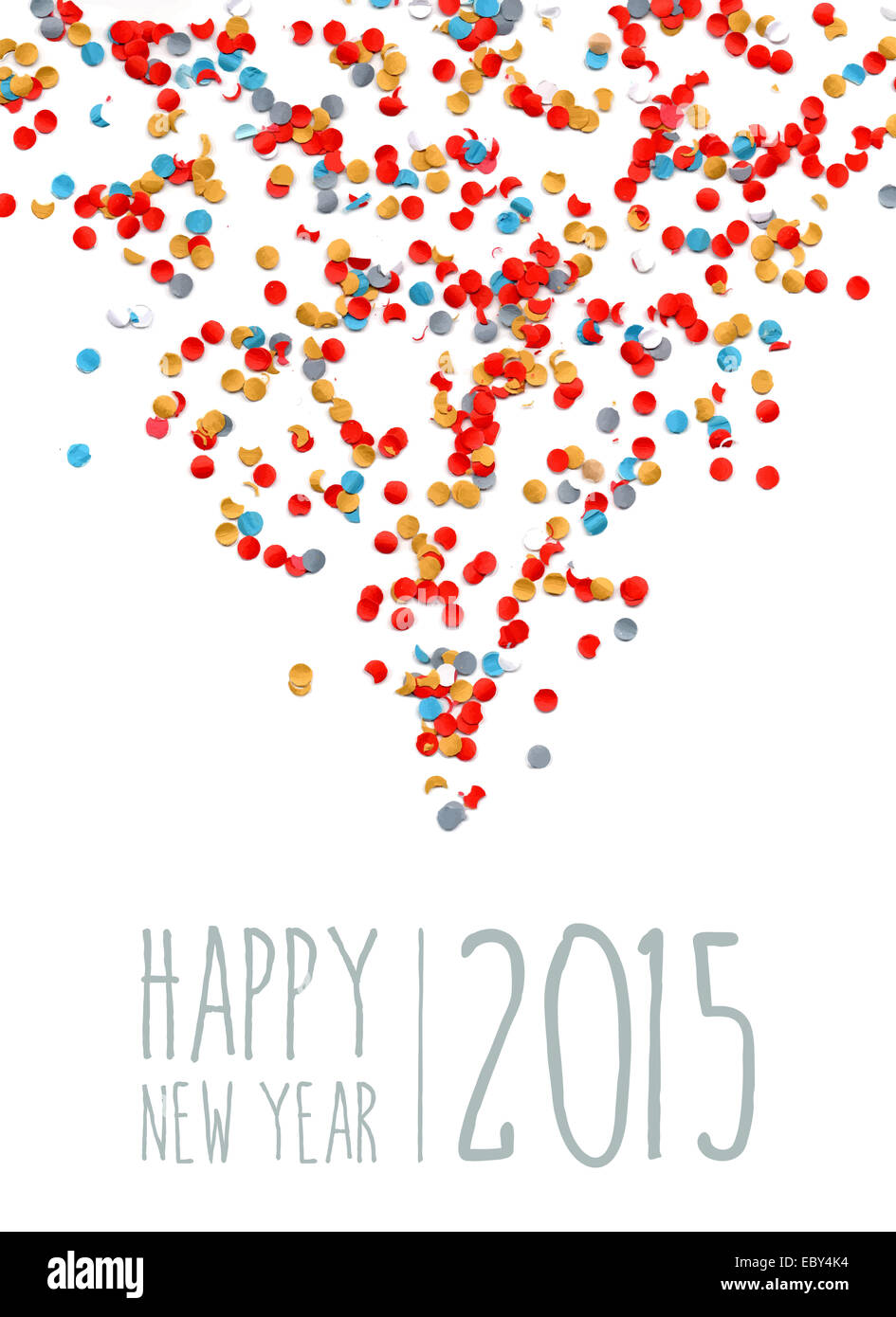 Happy New Year Eve 2015 Celebration With Colorful Shower Confetti