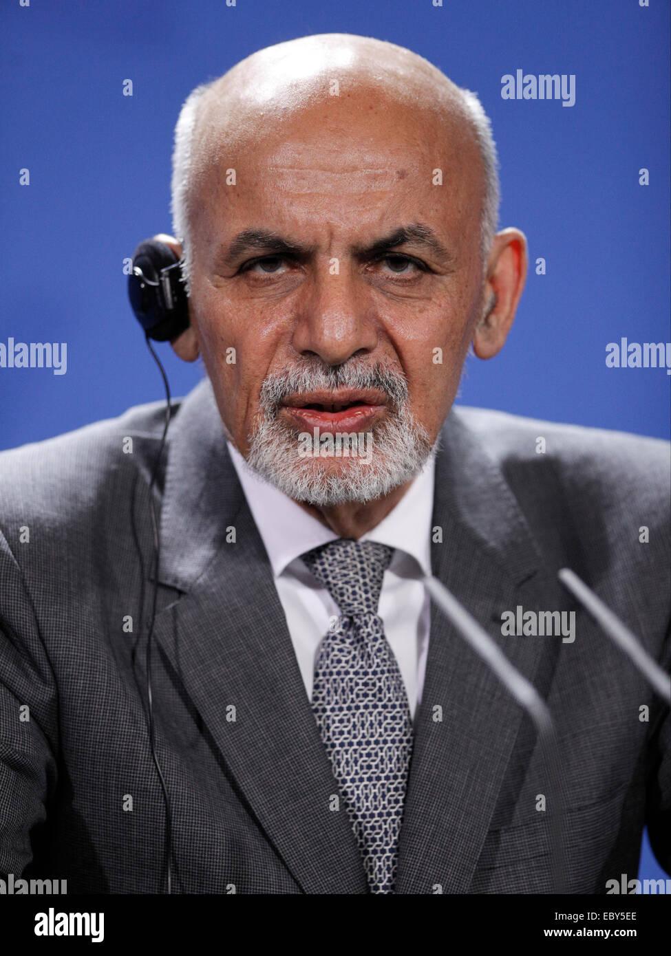 Berlin, Germany  05th Dec, 2014  Aschraf Ghani Ahmadsai