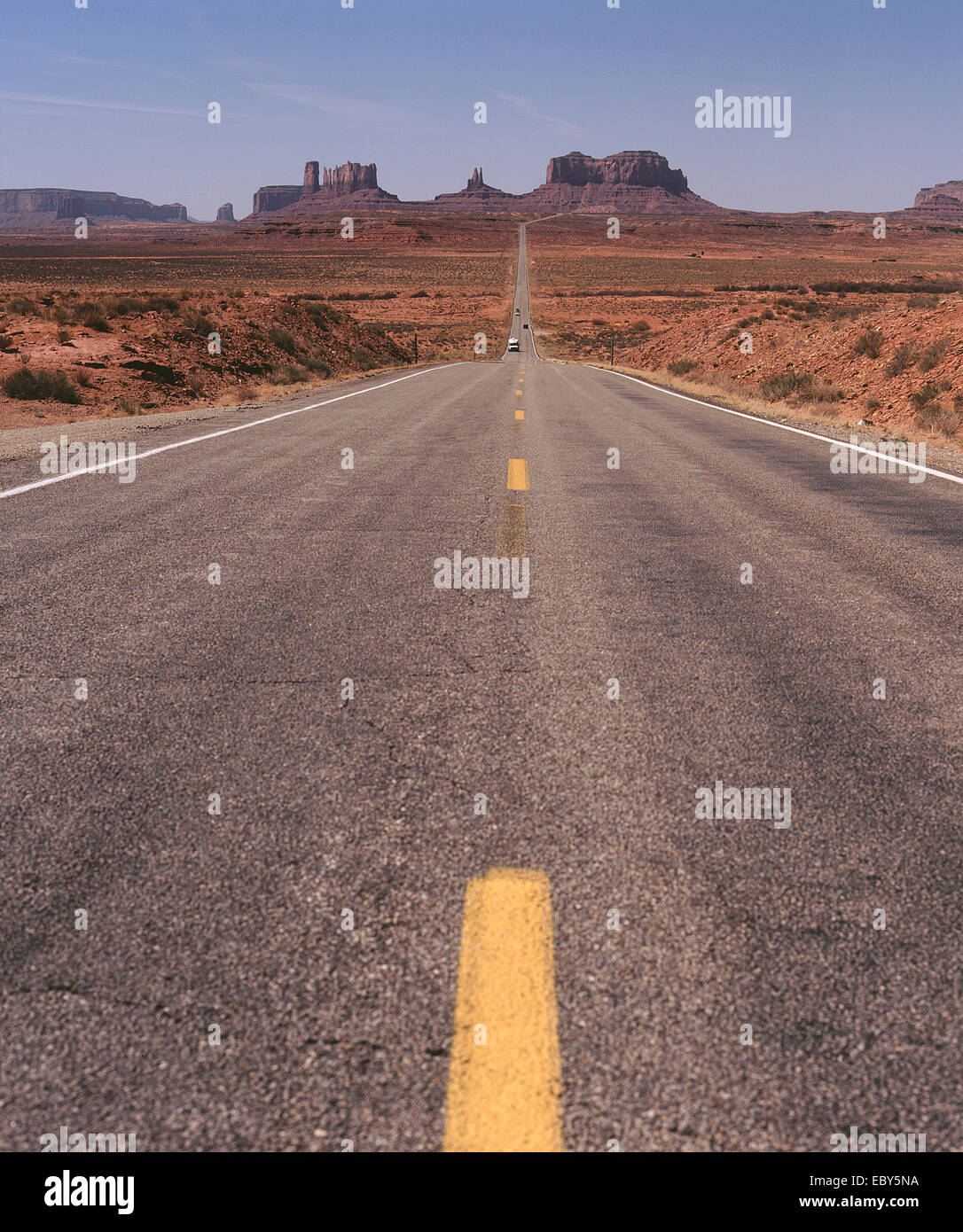 Road leading to Monument Valley Utah USA Stock Photo