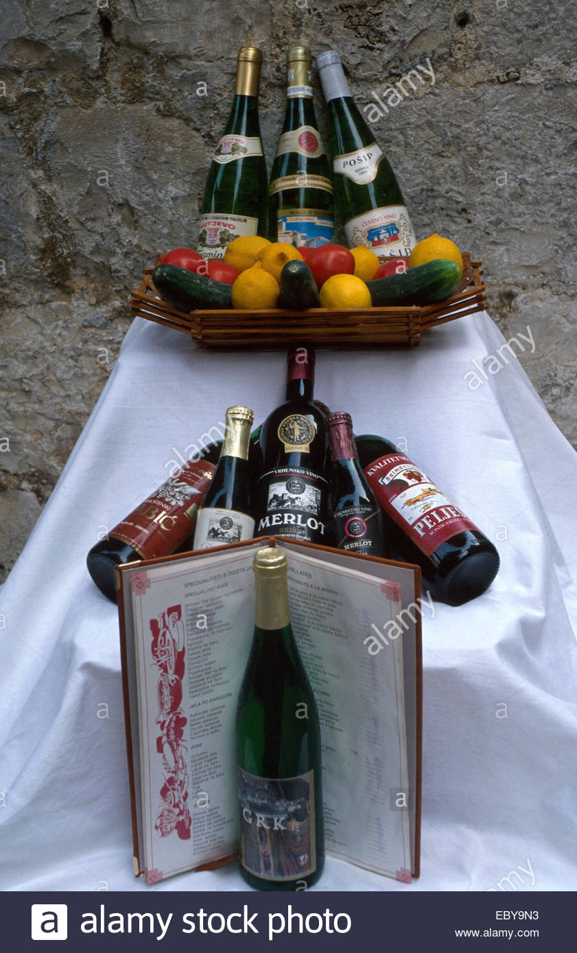 Dalmatian wine production - Stock Image