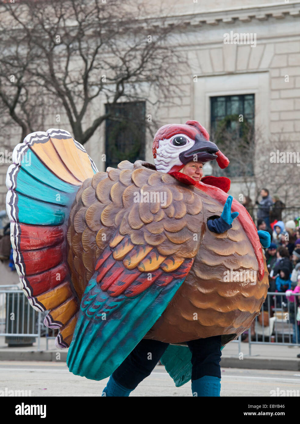 Detroit's Thanksgiving Day Parade, officially called America's Thanksgiving Parade. - Stock Image