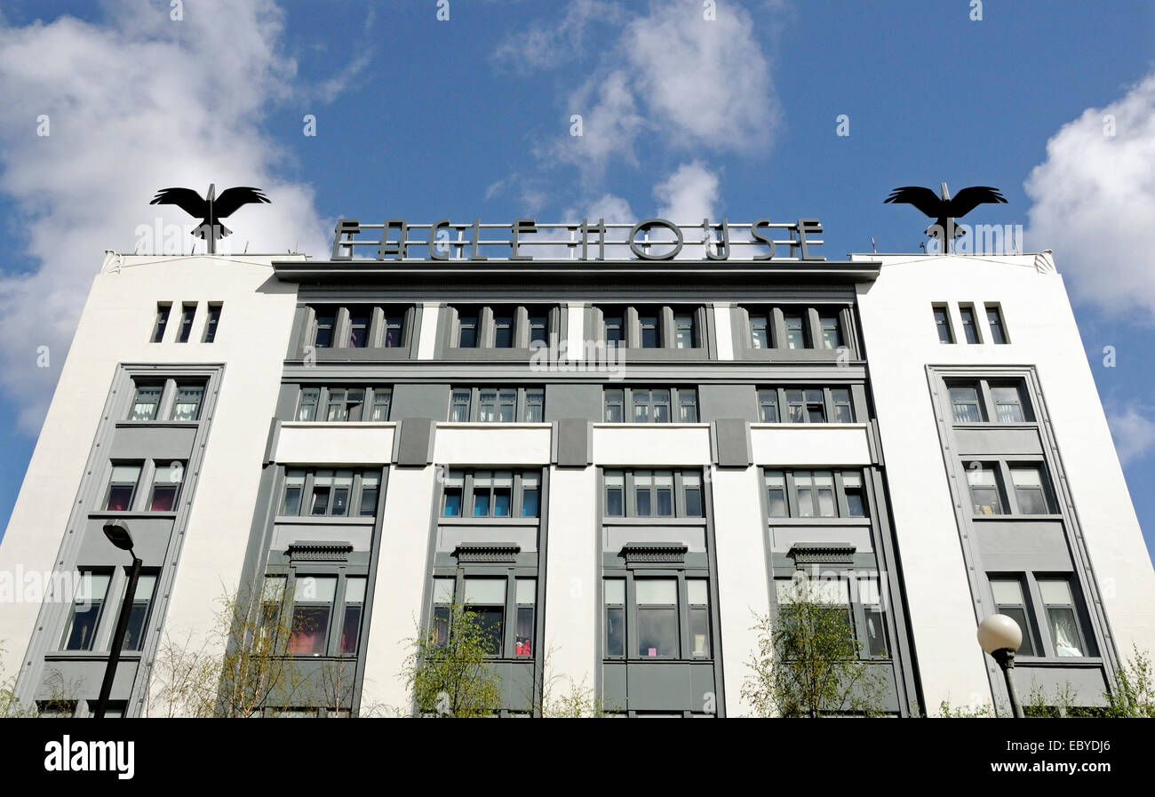 eagle house art deco building on city road london england britain