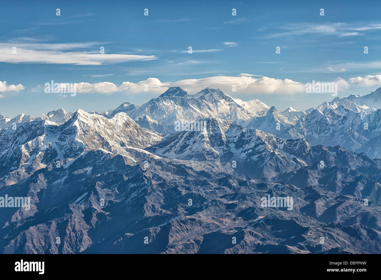 Mount Everest in Mahalangur, Nepal - Stock Image