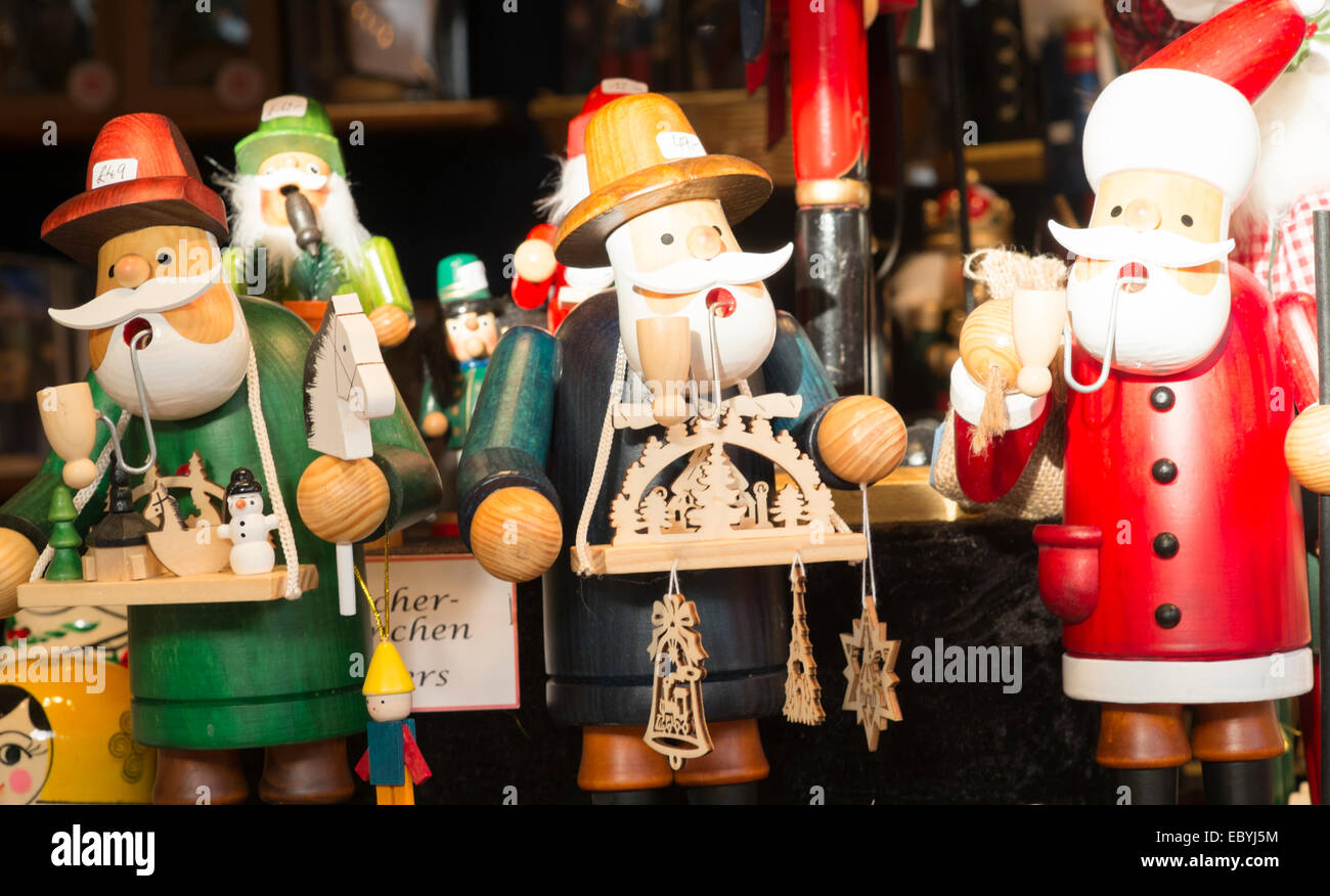 traditional german christmas market in birmingham stock image - Traditional German Christmas Decorations