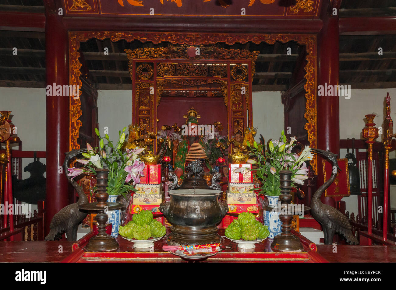 Inside Ngoc Son Temple, Hanoi, Vietnam - Stock Image